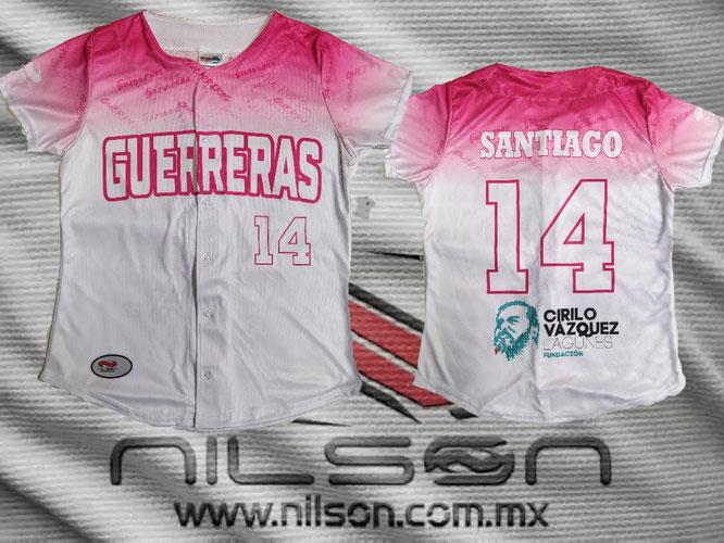 jersey guerreras béisbol femenil, sublimación digital Nilson ropa deportiva