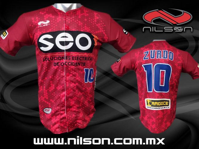 jersey beisbol modelo SEO sublimacion digital, Nilson ropa deportiva