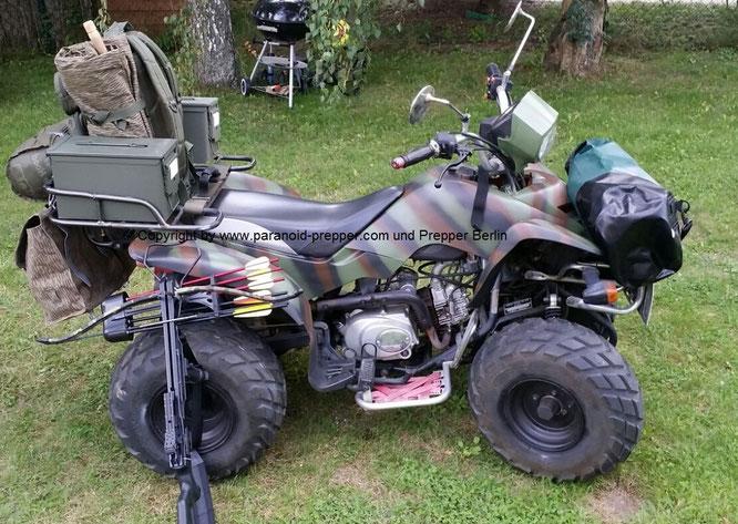 Fluchtfahrzeug Prepper ATV