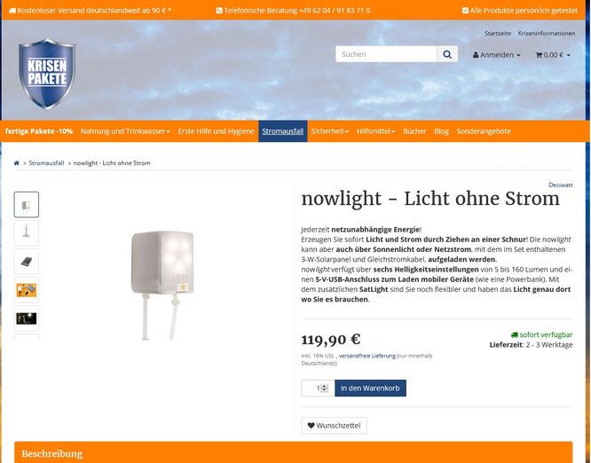 Quelle: krisenpakete.de/nowlight-Licht-ohne-Strom
