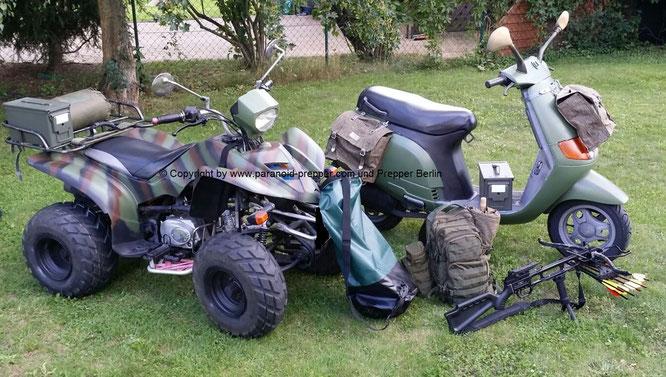 Fluchtfahrzeuge Prepper ATV Roller