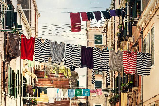 Linge qui sèche en Italie