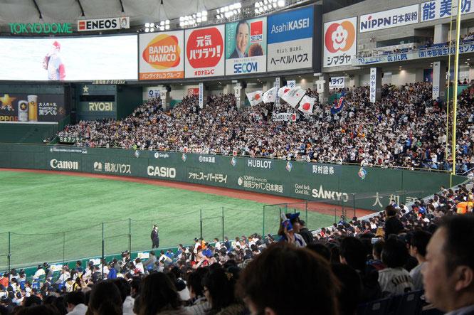 3月10日。WBC1次ラウンド「日本代表」対「中国代表」の一戦。スタンドの大声援が選手たちに伝わりました