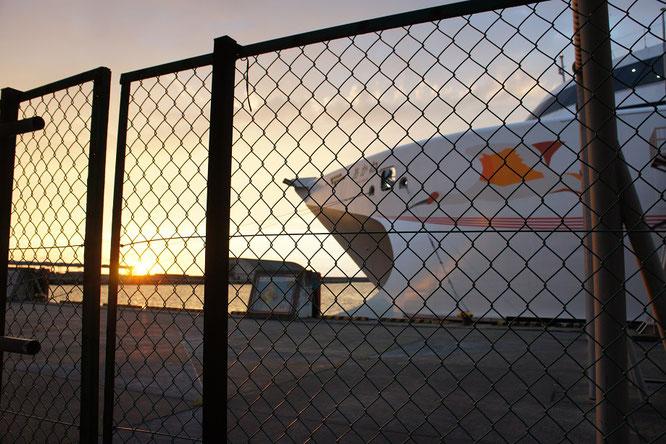 今日の直江津港。「金メダル色の夕焼け」は、リオでは「希望の朝日」。たくさんの感動に出会える今年の夏。