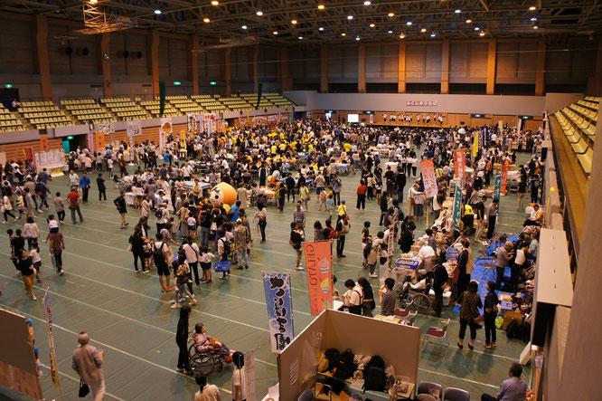 ふくしのひろば2019。主催者側の発表によると、今年の来場者は1,900人であったとのこと