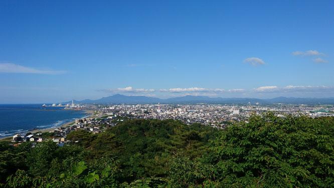 今日の五智公園展望台からの景色(画像をクリックして拡大)