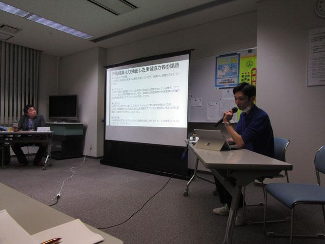 参加者に熱く語る金子さんと講師の矢崎さん