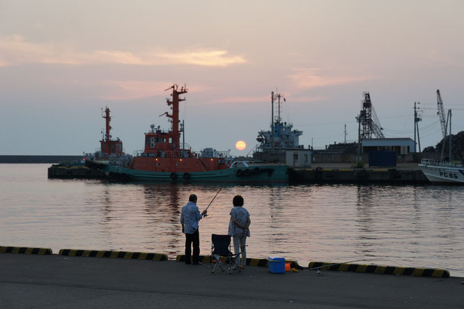 今日の直江津港。素敵な風景をゆっくりと眺めていたかったのですが、今日はそれどころではありませんでした