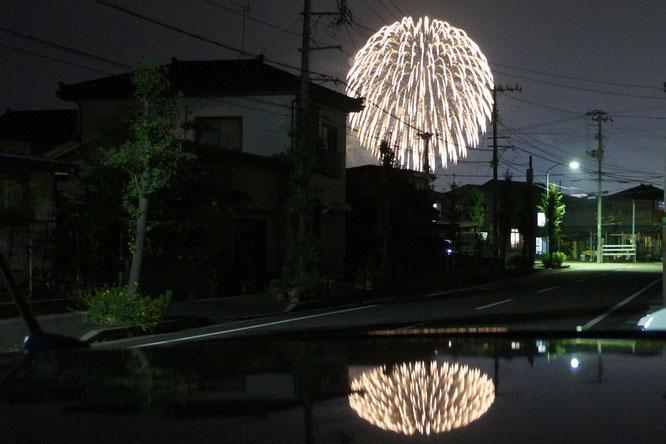 豪雨から一転。うみまちの夜空に打ち上げ花火。明日への元気をいただきました