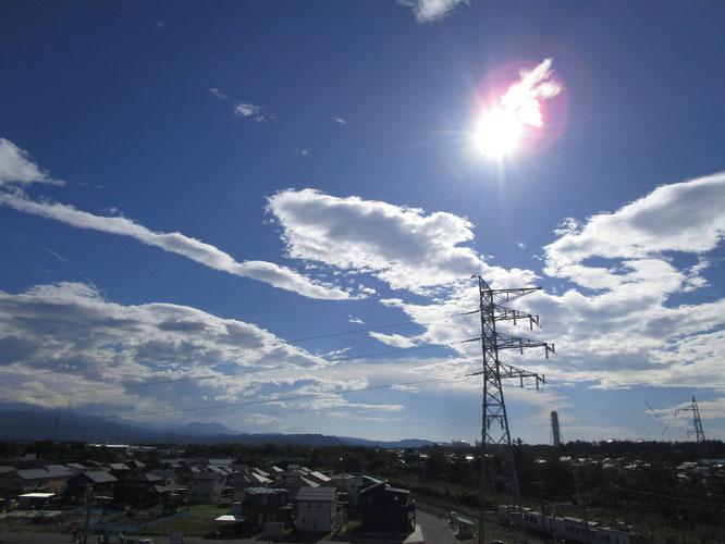 今日の屋上からの景色。あまりの暑さに集中力も低下気味。慎重に、はしごを降りました