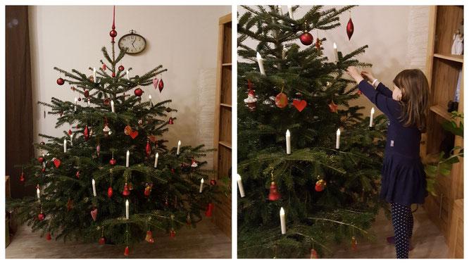 Unser geschmückter Weihnachtsbaum