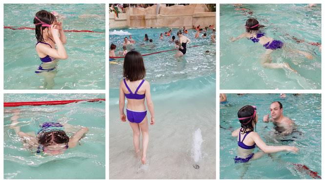 Im Aqualagon - dem Schwimmbad im Villages Nature Paris