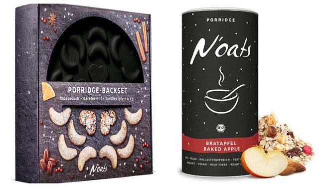 Wir testen: Das Porridge-Backset sowie die N'oats-Wintersorte Bratapfel von mymuesli