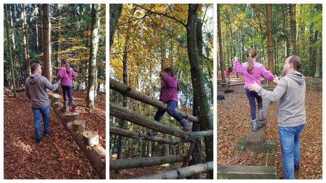 Die richtige Balance ist gefragt - im Abenteuerwald