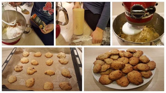 Wir backen Lebkuchen-Cookies nach einem Rezept von Tilda Apfelkern