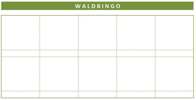 Eine Blanko-Vorlage für euer eigenes Waldbingo