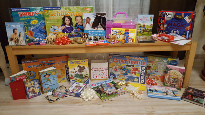 Alle Geburtstagsgeschenke für unsere Achtjährige auf einem Blick