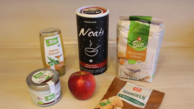Zutaten für Apfel-Zimt-Plätzchen mit der N'oats-Sorte Bratapfel von mymuesli