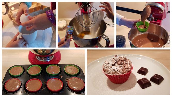 Wir Mädels backen Schoko-Muffins