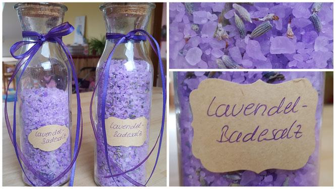 Unser fertiges Lavendel-Badesalz