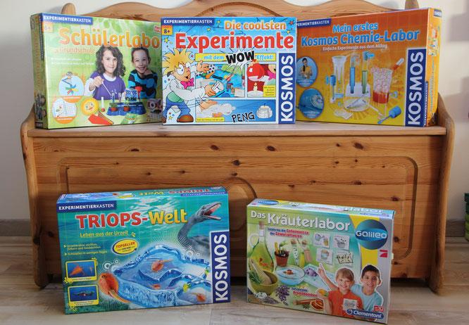 Experimentierkästen zum Geburtstag für unsere Achtjährige