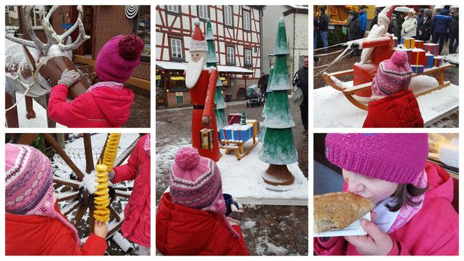 Auf dem Weihnachtsmarkt in Michelstadt