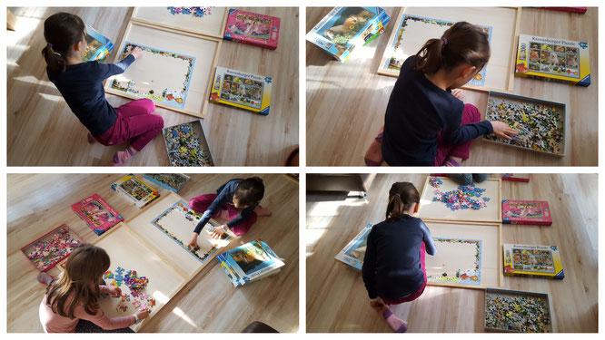 Unsere Mädels machen ein Puzzle nach dem anderen