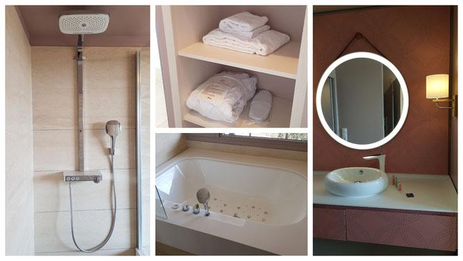 Das Bad in unserem Ferienappartement im Villages Nature Paris