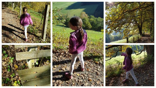 Unsere Kleine beim Spaziergang auf den Wegen rund um das Landhaus zur Ohe