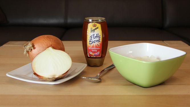 Zwiebeln und Honig für Hustensaft
