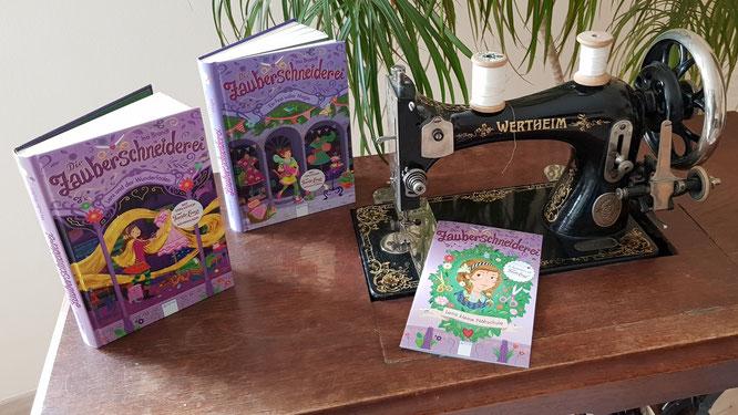 """Die Buch-Reihe """"Die Zauberschneiderei"""" auf unserer alten Wertheim-Nähmaschine"""