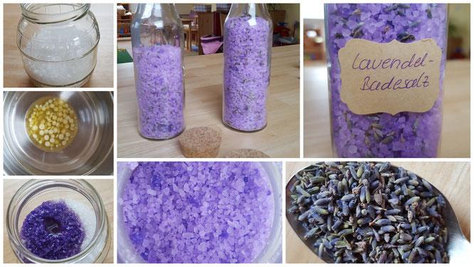 Die Schritte zu unserem Lavendel-Badesalz