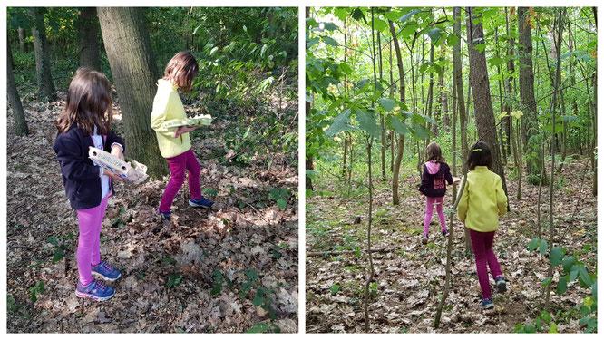 Unsere Mädels sammeln für ihr Waldbingo