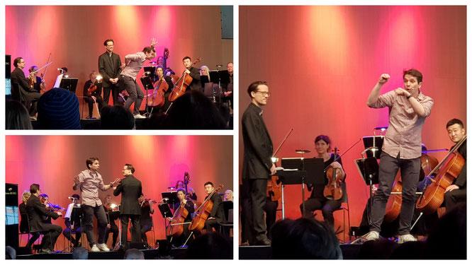Besuch beim Sitzkissenkonzert der deutschen philharmonie merck