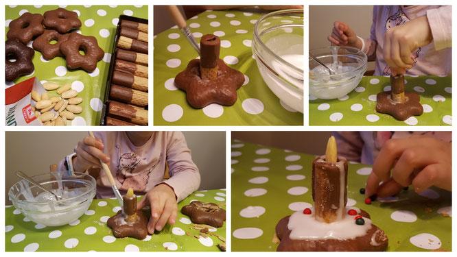 Aus Lebkuchen, Keksen, Zuckerguss und Streuseln entstehen kleine Kunstwerke
