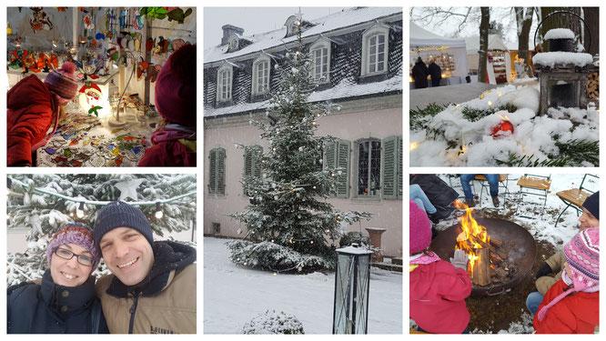 Impressionen vom Weihnachtsmarkt im Schlosspark in Braunshardt