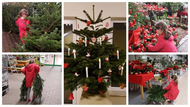 Dieses Jahr gab es auch im Kinderzimmer einen kleinen Weihnachtsbaum