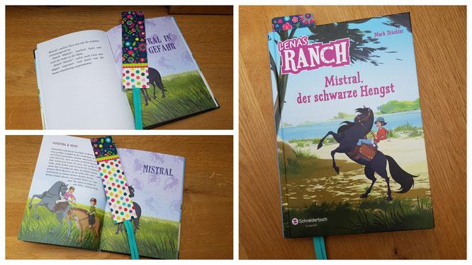 "Das Lesezeichen ""flowers & dots"" aus dem Verlag moses."