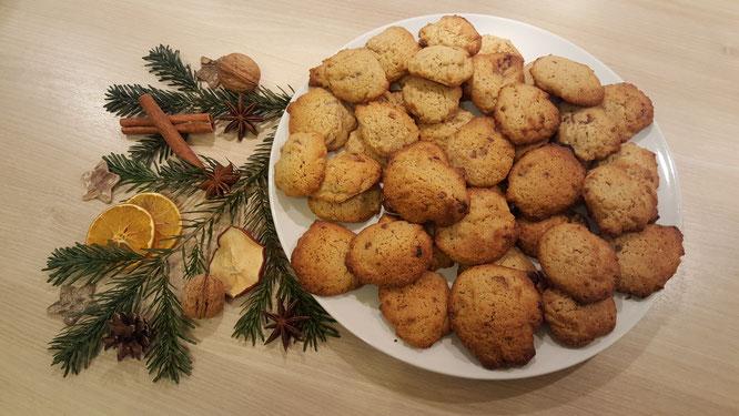 Die fertigen Lebkuchen-Cookies