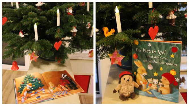 """""""Der kleine Igel und der Gast im Weihnachtsbaum"""" - eine warmherzige Geschichte über Freundschaft"""