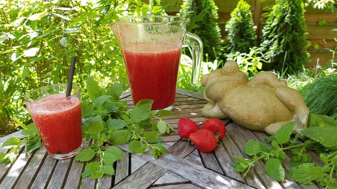 Erdbeerlimonade - eine sommerliche Erfrischung