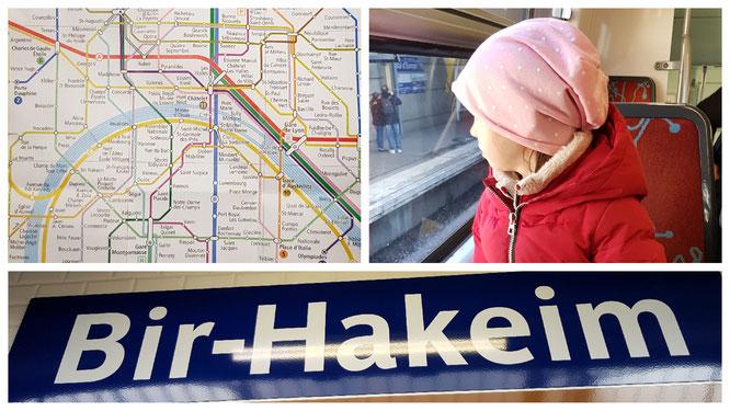 Auf dem Weg nach Paris - Metroplan und Fahrt im RER A