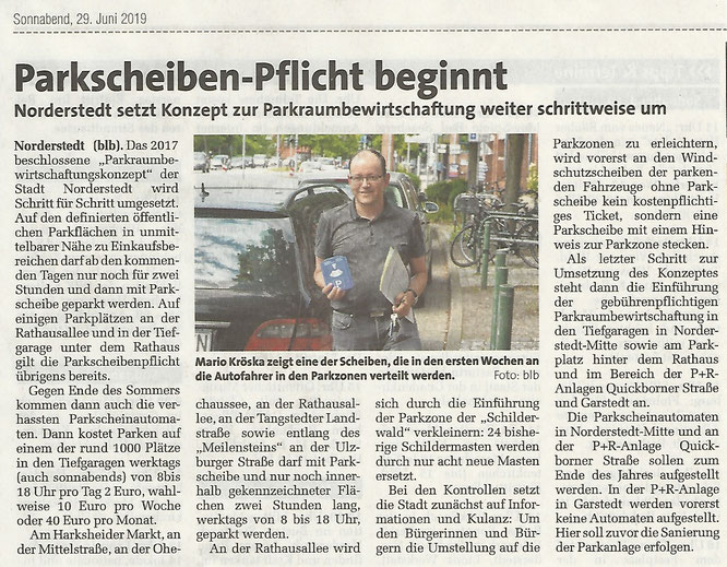 PACT, Norderstedt-Mitte, Parkraumbewirtschaftung