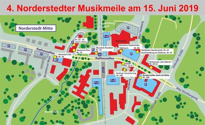 Norderstedter Musikmeile, Locations, PACT Norderstedt-Mitte, Quartiersmanagement, Festivals, Konzerte, Livemusik