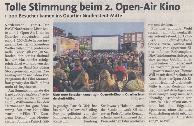 Norderstedt-Mitte, PACT, Open-Air Kino