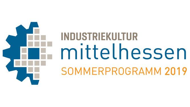 """Logo """"Industriekultur Mittelhessen"""" - Sommerprogramm 2019"""