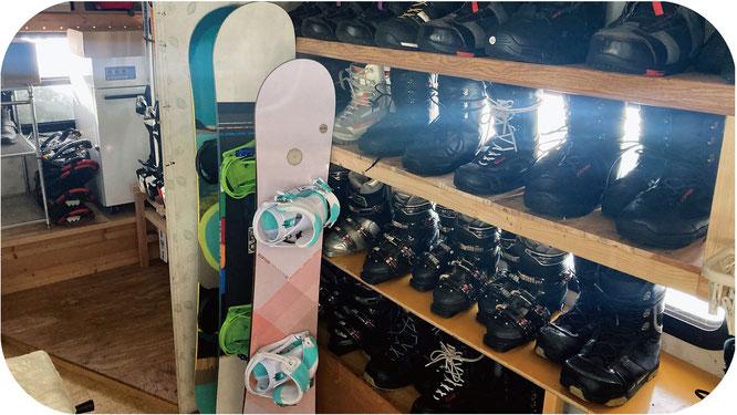 コーヒーカップミルキー館のレンタルスキー・スノーボード