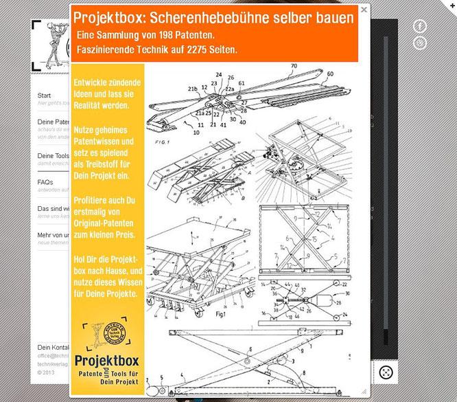 Projektbox: Scherenhebebühne selber bauen