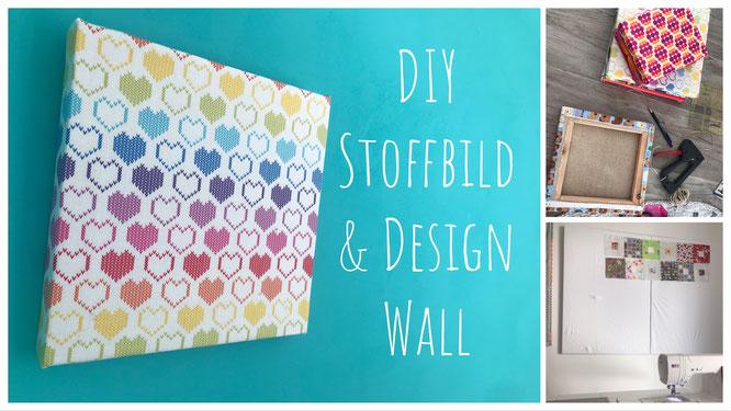 DIY Stoffbilder Patchwork Design Wall selber machen