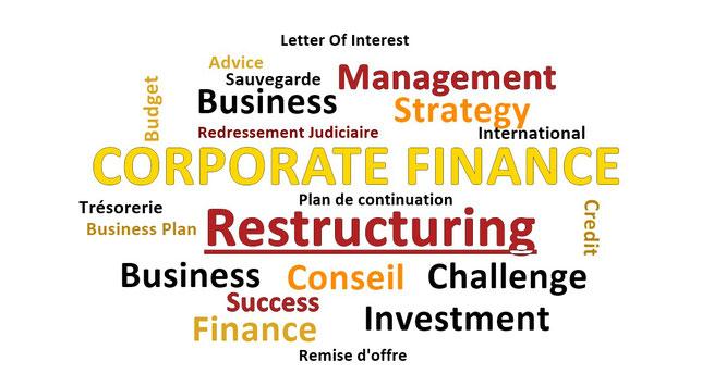 Restructuring redressement judiciaire reprises d'entreprises en difficulté